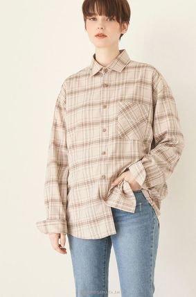 Other Plaid Patterns Unisex Street Style Long Sleeves