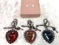 MiuMiu Heart With Jewels Keychains & Bag Charms
