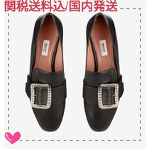 BALLY Plain Leather Office Style Elegant Style Formal Style