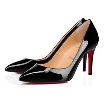 Christian Louboutin Leather Elegant Style Logo High Heel Pumps & Mules