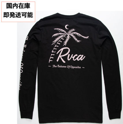 RVCA Long Sleeve Crew Neck Long Sleeves Cotton Logos on the Sleeves