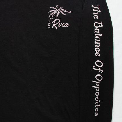 RVCA Long Sleeve Crew Neck Long Sleeves Cotton Logos on the Sleeves 2