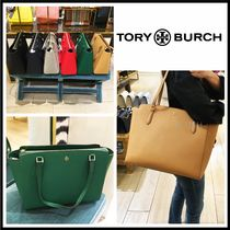 Tory Burch Casual Style Saffiano A4 Plain Office Style Elegant Style