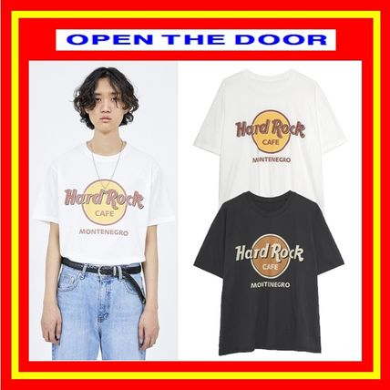 OPEN THE DOOR More T-Shirts Unisex Street Style Plain Cotton T-Shirts