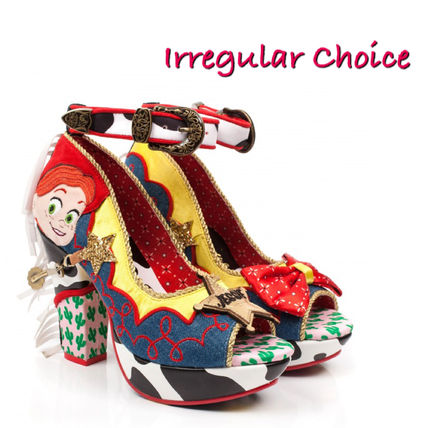 Open Toe Platform Casual Style Blended Fabrics Collaboration
