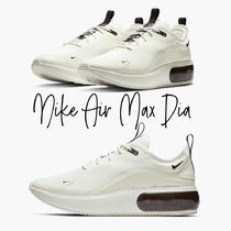 Nike AIR MAX Lace-up Unisex Plain Logo Low-Top Sneakers