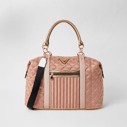 Nylon A4 2WAY Plain Crossbody Boston & Duffles