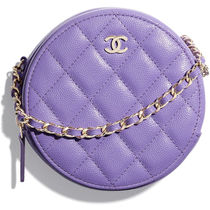 CHANEL CHAIN WALLET Casual Style Calfskin 2WAY Chain Plain Elegant Style