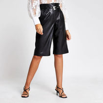 River Island Casual Style Faux Fur Medium Leather & Faux Leather Pants