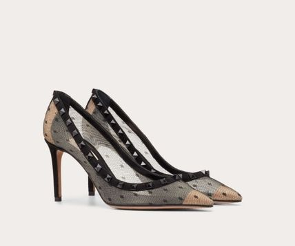VALENTINO Pointed Toe Dots Studded Pin Heels Party Style Office Style 3