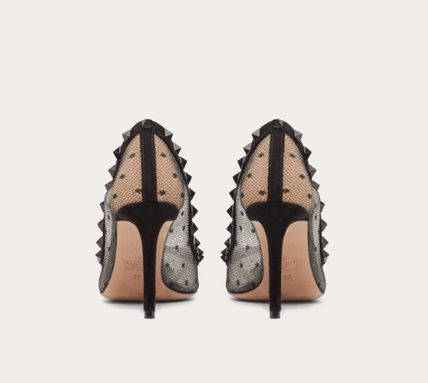 VALENTINO Pointed Toe Dots Studded Pin Heels Party Style Office Style 4