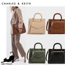 Charles&Keith Casual Style Faux Fur A4 2WAY Office Style Elegant Style