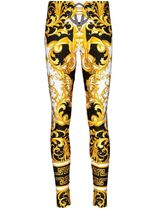 VERSACE Printed Pants Tropical Patterns Casual Style Long