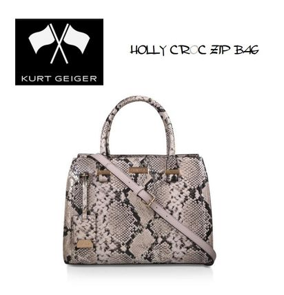 Faux Fur 2WAY Office Style Python Crossbody Formal Style