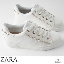 ZARA Casual Style Studded Plain Other Animal Patterns With Jewels