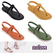 Melissa Casual Style Enamel Collaboration Plain Sport Sandals