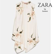 ZARA Flower Patterns Casual Style Sleeveless Medium Elegant Style