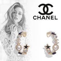 CHANEL Costume Jewelry Star Casual Style Unisex Blended Fabrics