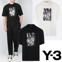 Y-3 Crew Neck Unisex Street Style Collaboration Cotton Logo
