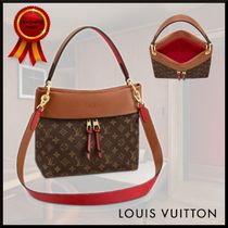 Louis Vuitton TUILERIES Monogram Casual Style Canvas 3WAY Leather Office Style