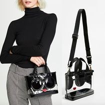Alice+Olivia Casual Style 2WAY 3WAY Party Style Crystal Clear Bags
