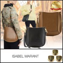 Isabel Marant Casual Style Studded Plain Leather Office Style