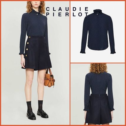Casual Style Long Sleeves Elegant Style Shirts & Blouses