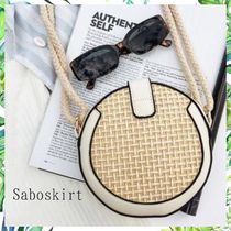 SABO SKIRT Crossbody Straw Bags