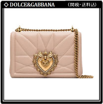 Dolce & Gabbana Heart Lambskin 2WAY Chain With Jewels Elegant Style