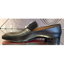 Christian Louboutin Plain Toe Moccasin Loafers Plain Leather Loafers & Slip-ons