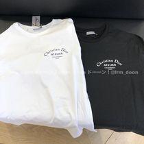 Christian Dior Crew Neck Plain Cotton Short Sleeves Logo Crew Neck T-Shirts