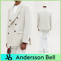 ANDERSSON BELL Unisex Street Style Plain Blazers Jackets