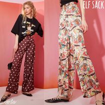 ELF SACK Printed Pants Dots Casual Style Street Style Long