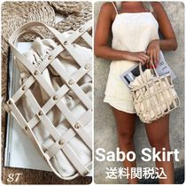 SABO SKIRT Casual Style Faux Fur Blended Fabrics Studded Plain Purses