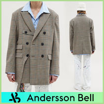 ANDERSSON BELL Other Plaid Patterns Unisex Street Style Blazers Jackets