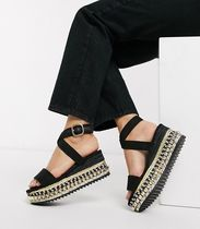River Island Open Toe Platform Casual Style Studded Street Style