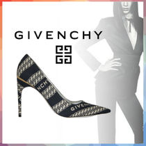 GIVENCHY Casual Style Chain Logo Pointed Toe Pumps & Mules