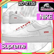 Supreme Unisex Street Style Collaboration Logo Sneakers
