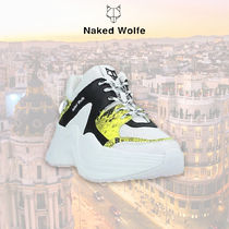 Naked Wolfe Platform Rubber Sole Leather Platform & Wedge Sneakers