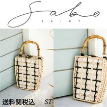 SABO SKIRT Casual Style Blended Fabrics Handbags