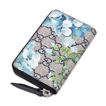 GUCCI Flower Patterns Long Wallet  Coin Cases