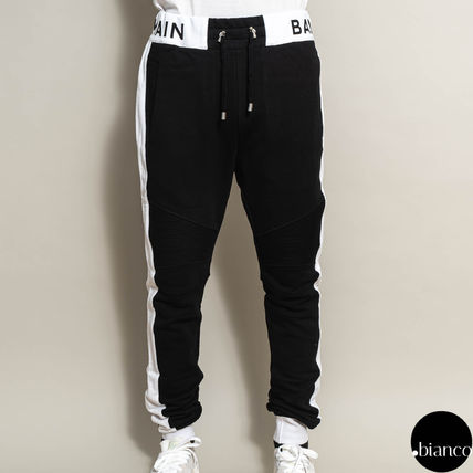 Sweat Bi-color Cotton Logo Joggers & Sweatpants