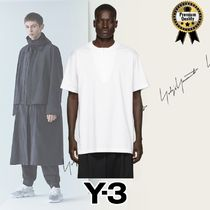 Y-3 Pullovers Henry Neck Street Style Plain Cotton Short Sleeves