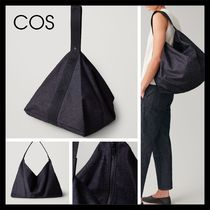 COS Casual Style Unisex Denim Plain Totes