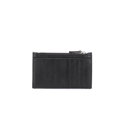 BALENCIAGA Unisex Calfskin Street Style Plain Leather Logo Card Holders