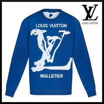 Louis Vuitton Crew Neck Pullovers Unisex Street Style Long Sleeves
