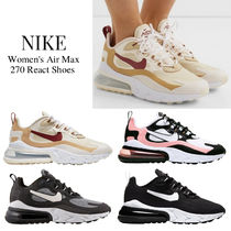 Nike AIR MAX 270 Lace-up Casual Style Street Style Logo Low-Top Sneakers