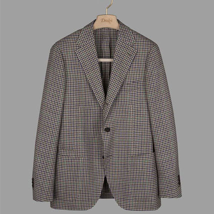 Short Other Plaid Patterns Wool Blended Fabrics Jackets