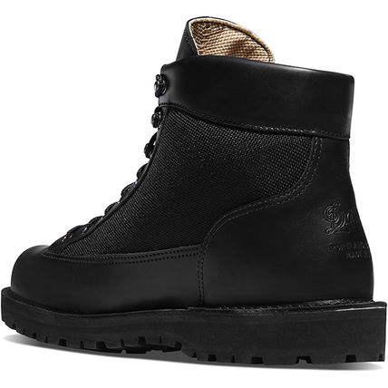 Plain Leather Street Style Boots