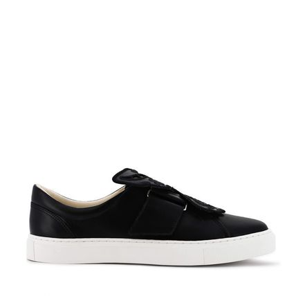 Casual Style Unisex Leather Low-Top Sneakers